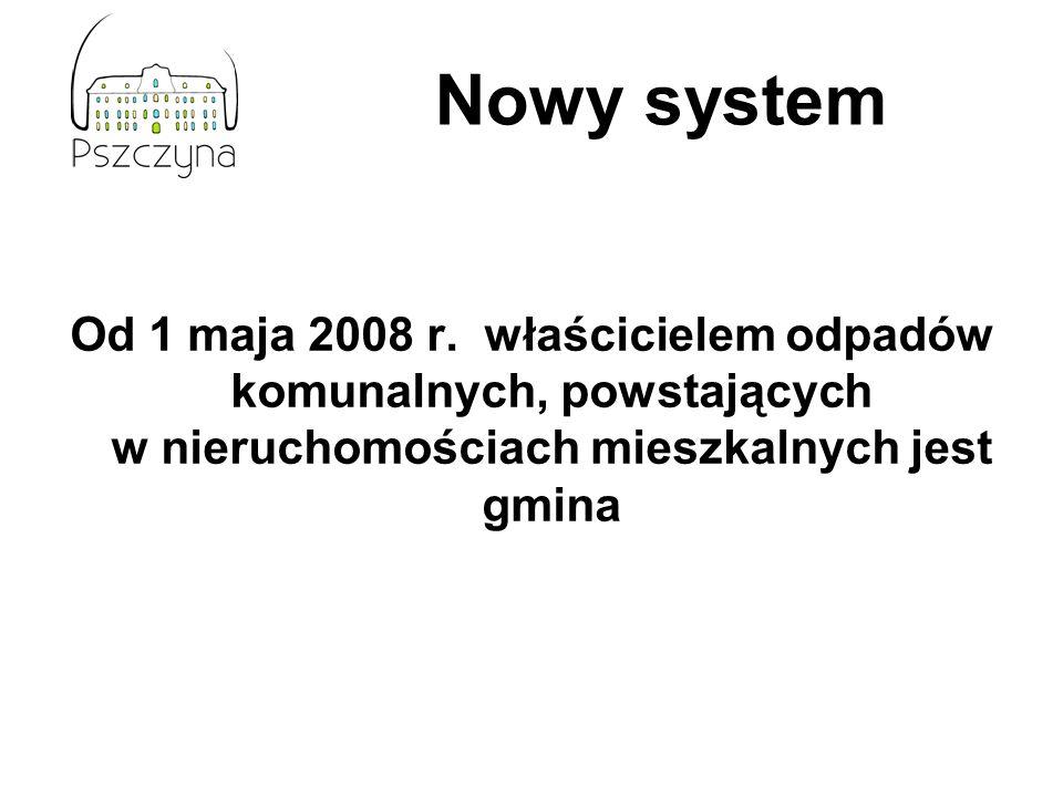 Nowy systemOd 1 maja 2008 r.