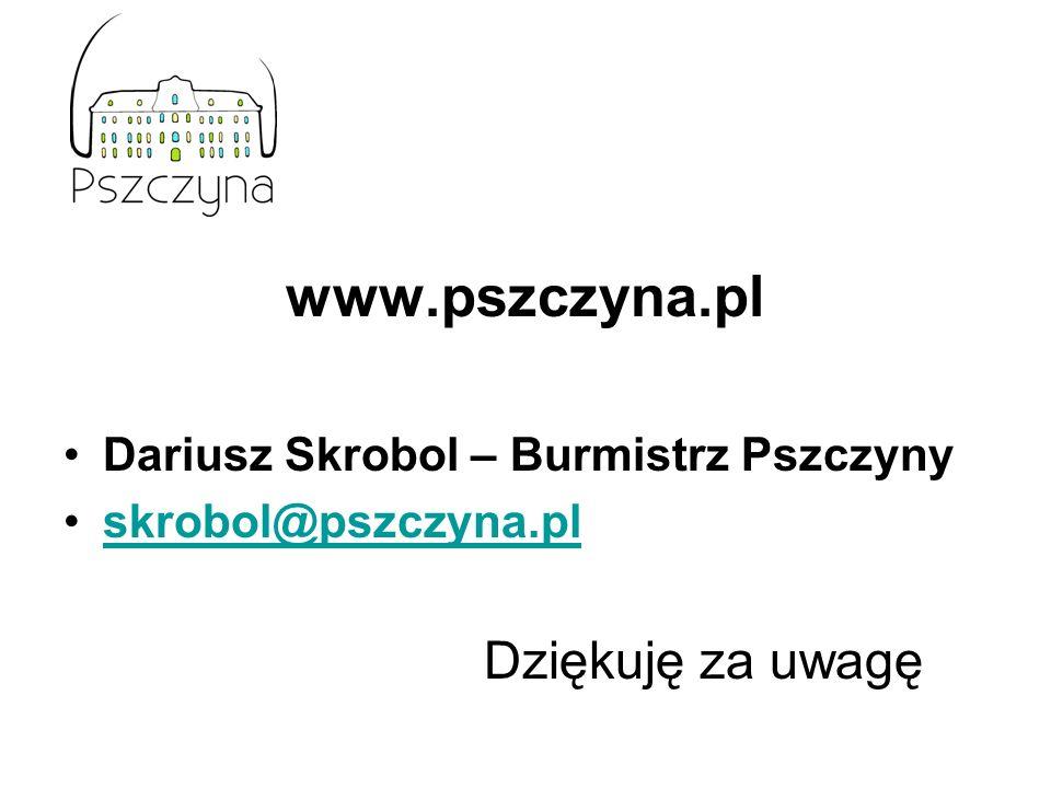www.pszczyna.pl Dziękuję za uwagę Dariusz Skrobol – Burmistrz Pszczyny
