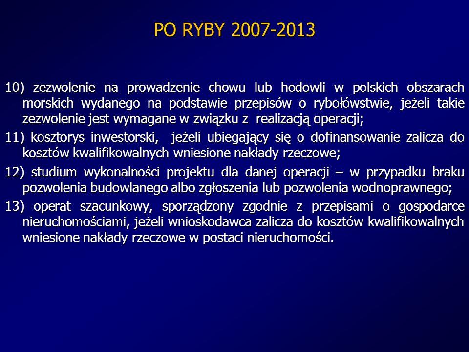 PO RYBY 2007-2013