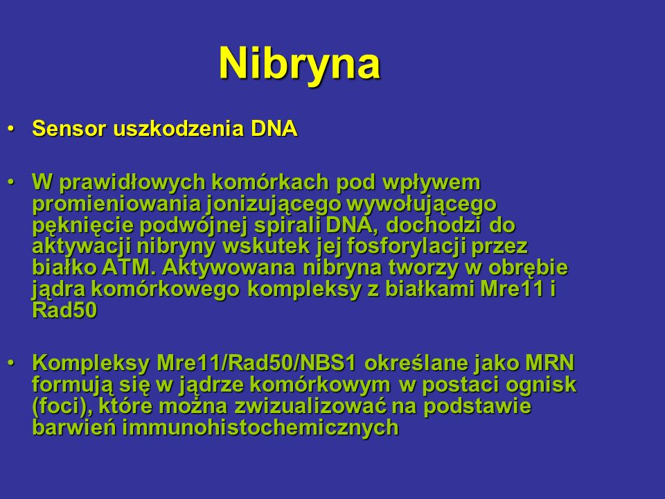 Nibryna Sensor uszkodzenia DNA