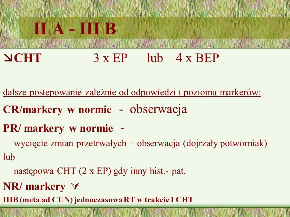 II A - III B CHT 3 x EP lub 4 x BEP CR/markery w normie - obserwacja