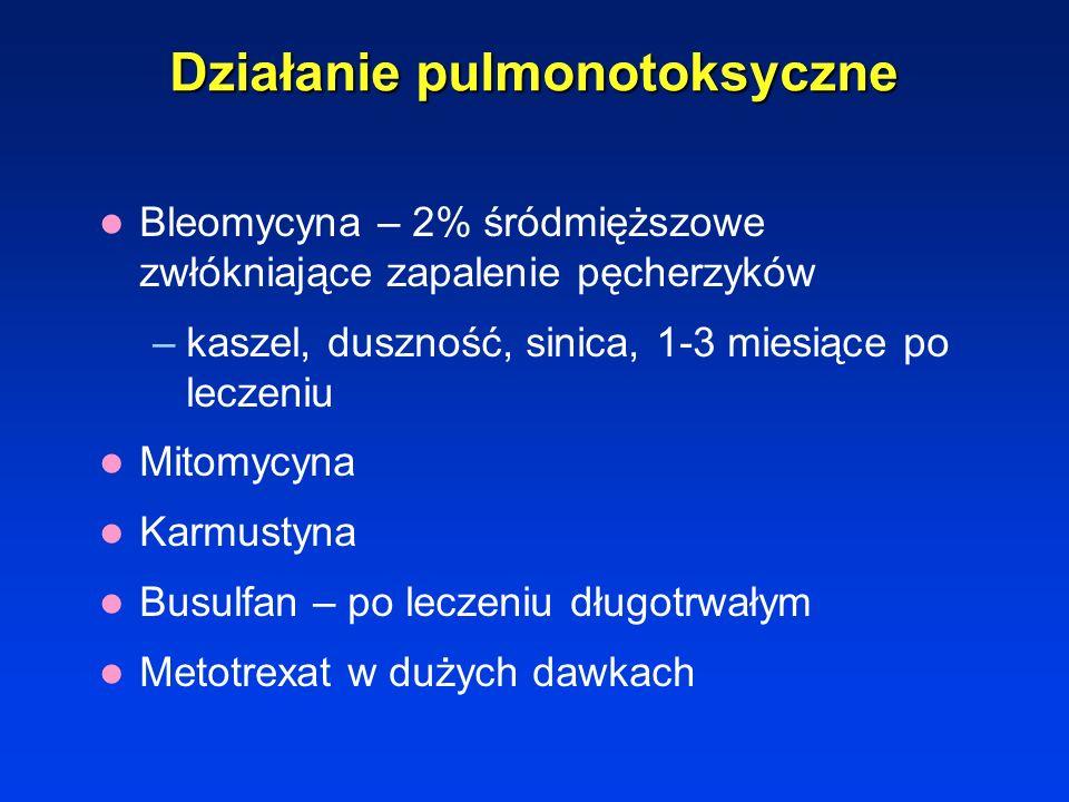 Działanie pulmonotoksyczne