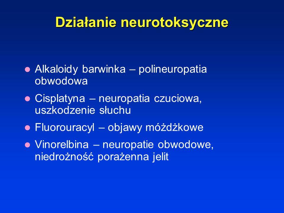 Działanie neurotoksyczne