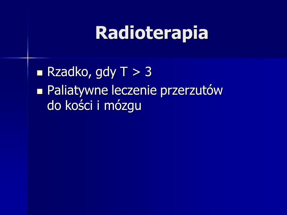 Radioterapia Rzadko, gdy T > 3