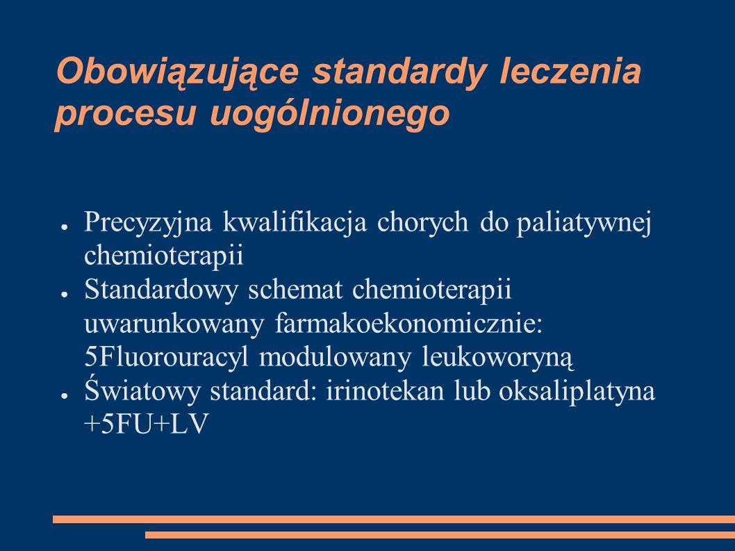 Obowiązujące standardy leczenia procesu uogólnionego