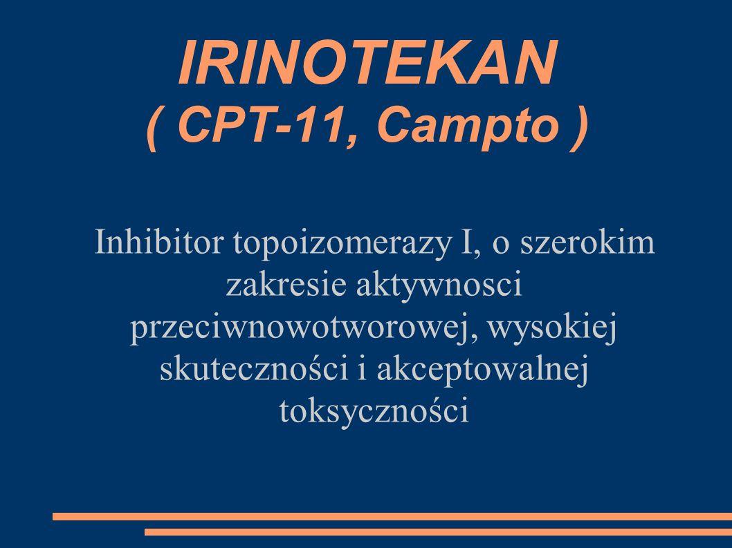 IRINOTEKAN ( CPT-11, Campto )