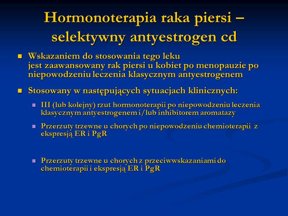 Hormonoterapia raka piersi – selektywny antyestrogen cd