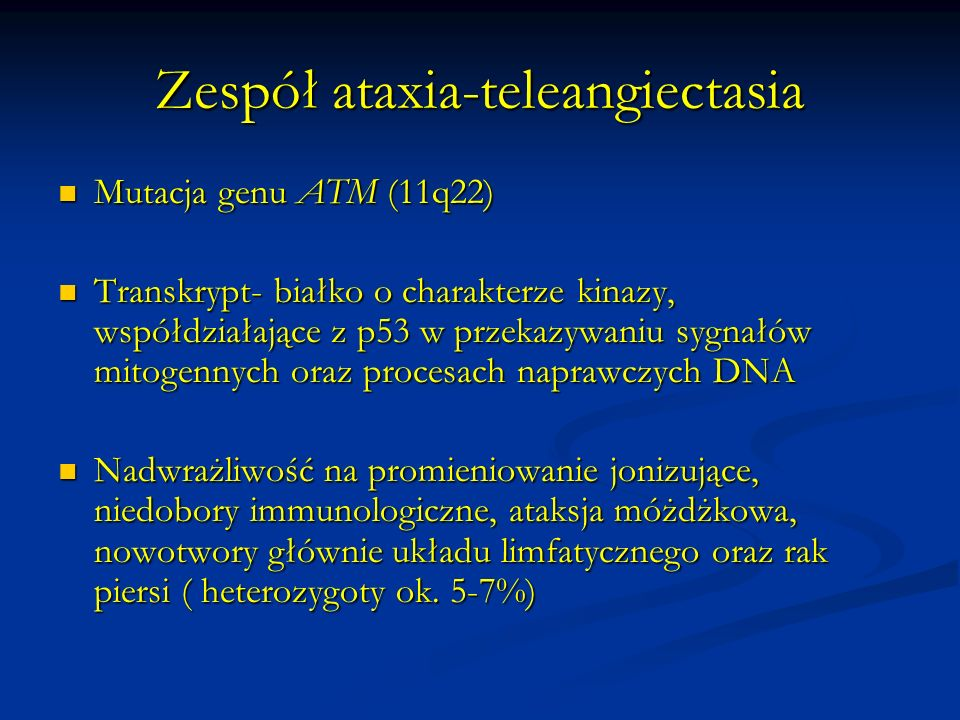 Zespół ataxia-teleangiectasia