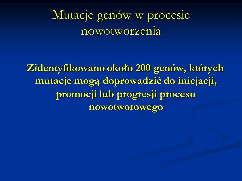 Mutacje genów w procesie nowotworzenia