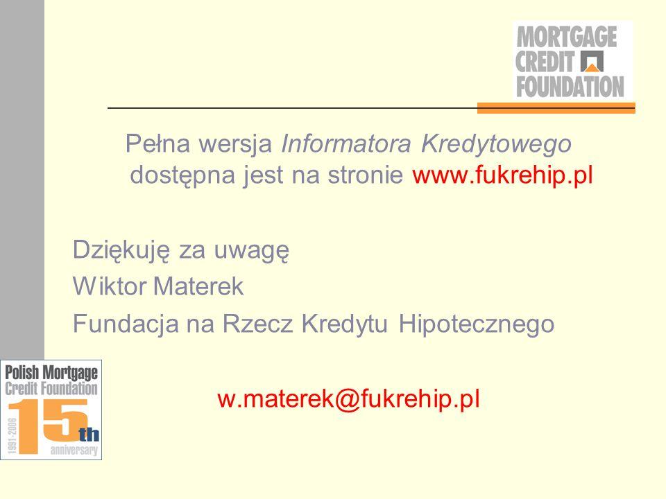 Pełna wersja Informatora Kredytowego dostępna jest na stronie www
