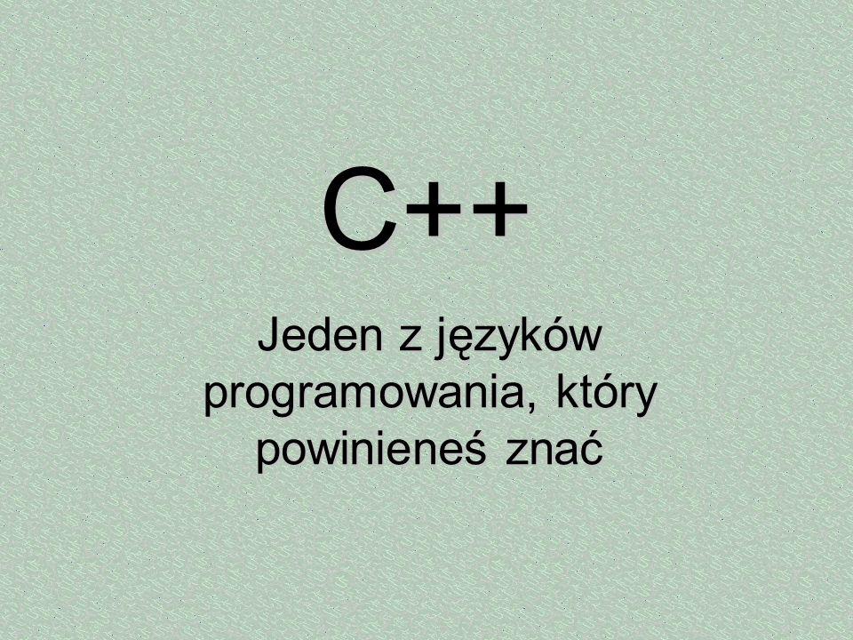 Jeden z języków programowania, który powinieneś znać