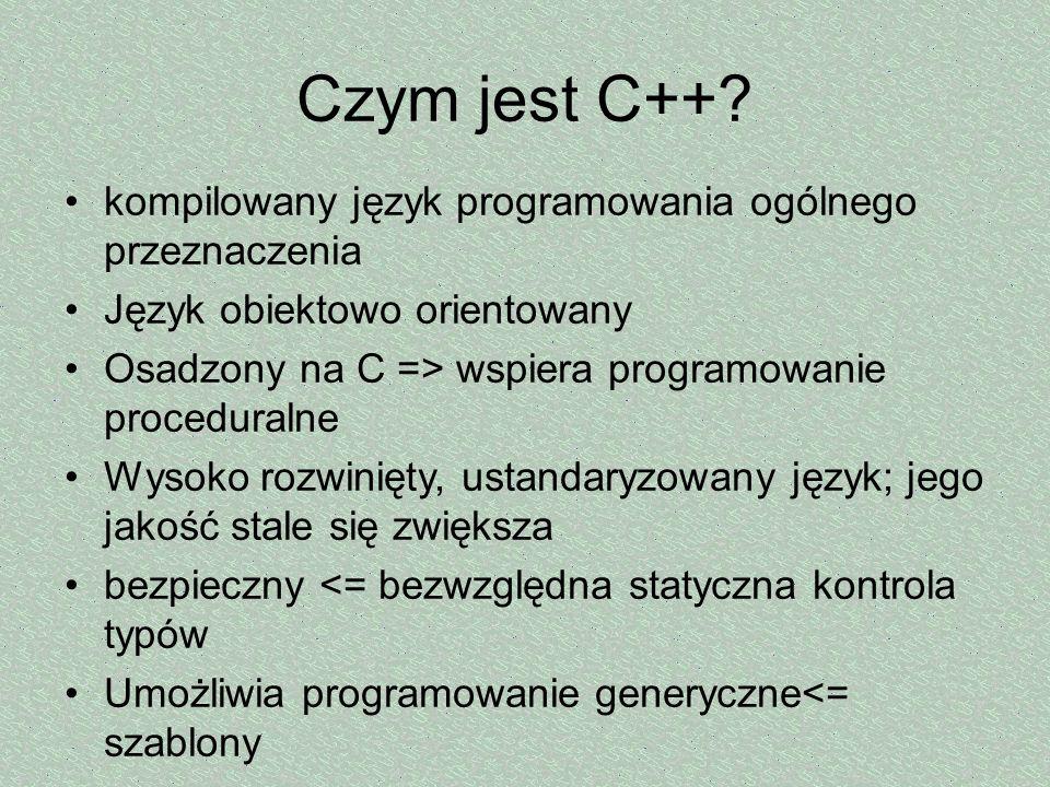 Czym jest C++ kompilowany język programowania ogólnego przeznaczenia