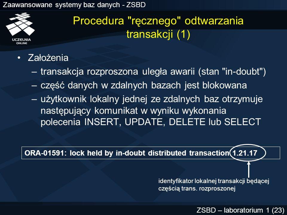 Procedura ręcznego odtwarzania transakcji (1)