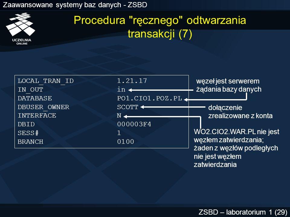 Procedura ręcznego odtwarzania transakcji (7)
