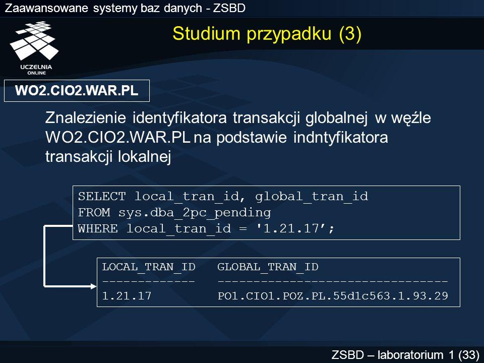 Studium przypadku (3) WO2.CIO2.WAR.PL.