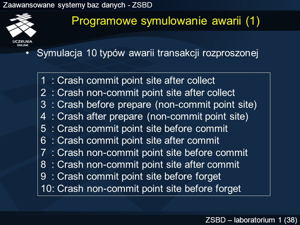Programowe symulowanie awarii (1)