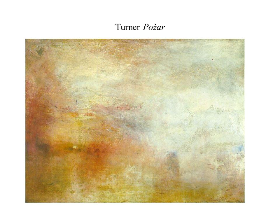 Turner Pożar Zachód słońca