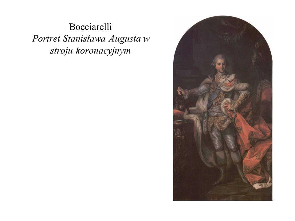 Bocciarelli Portret Stanisława Augusta w stroju koronacyjnym
