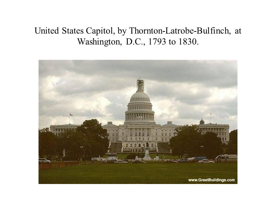 United States Capitol, by Thornton-Latrobe-Bulfinch, at Washington, D
