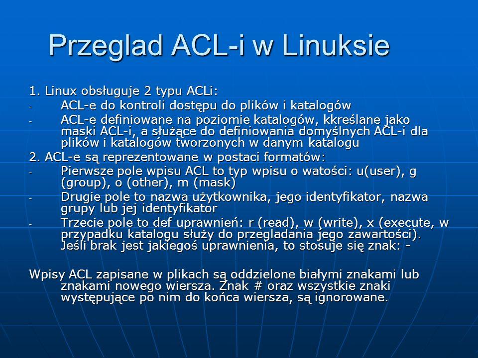 Przeglad ACL-i w Linuksie