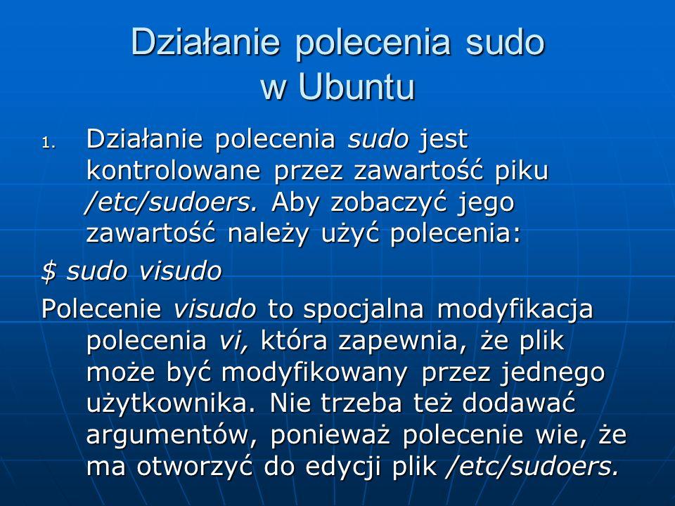 Działanie polecenia sudo w Ubuntu