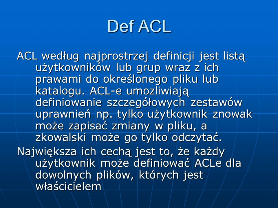 Def ACL