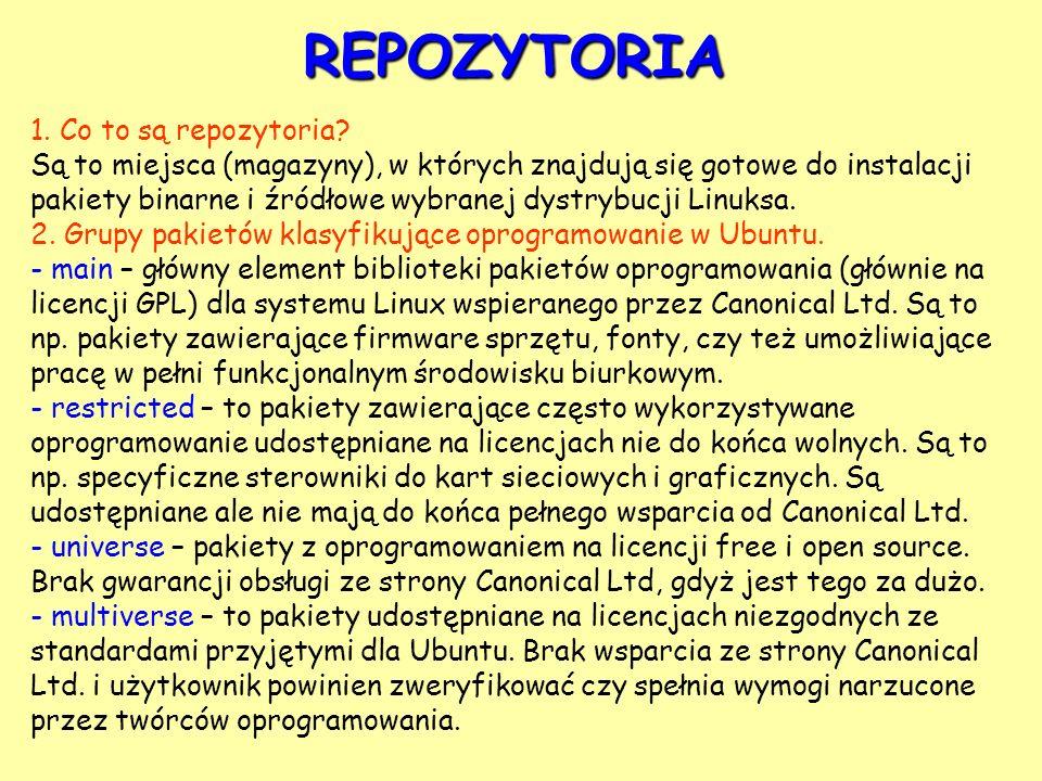 REPOZYTORIA 1. Co to są repozytoria