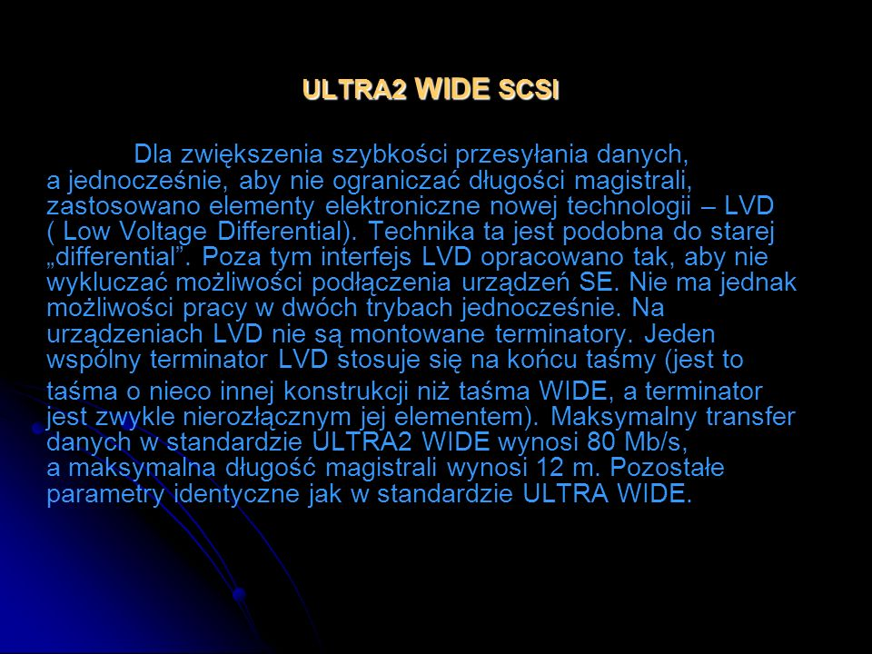 ULTRA2 WIDE SCSI