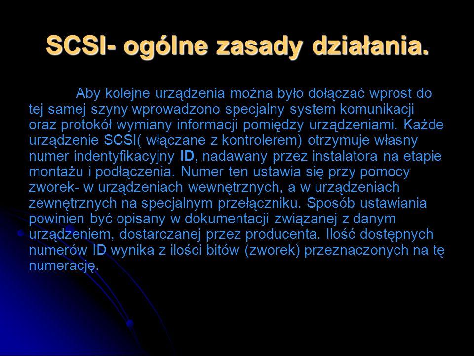 SCSI- ogólne zasady działania.