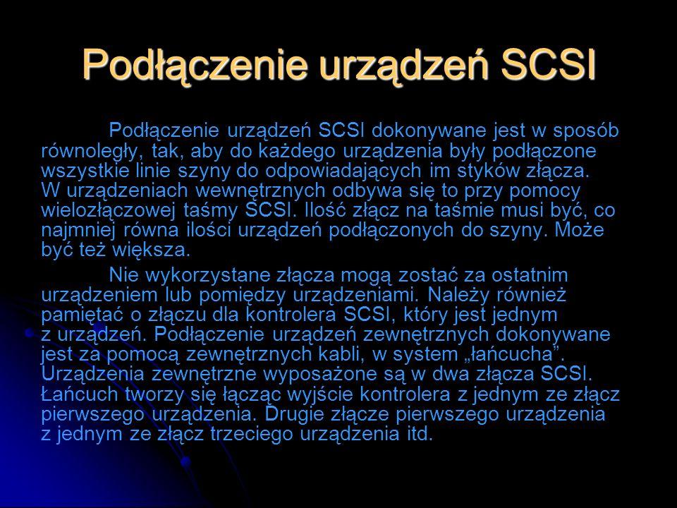 Podłączenie urządzeń SCSI