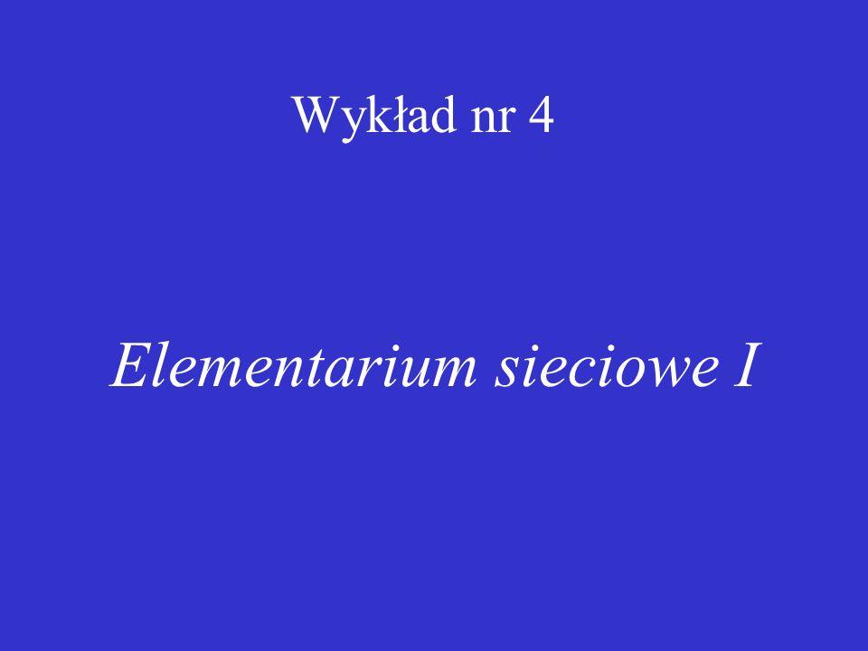 Elementarium sieciowe I
