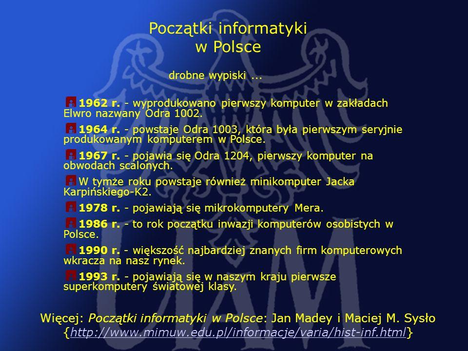 Początki informatyki w Polsce