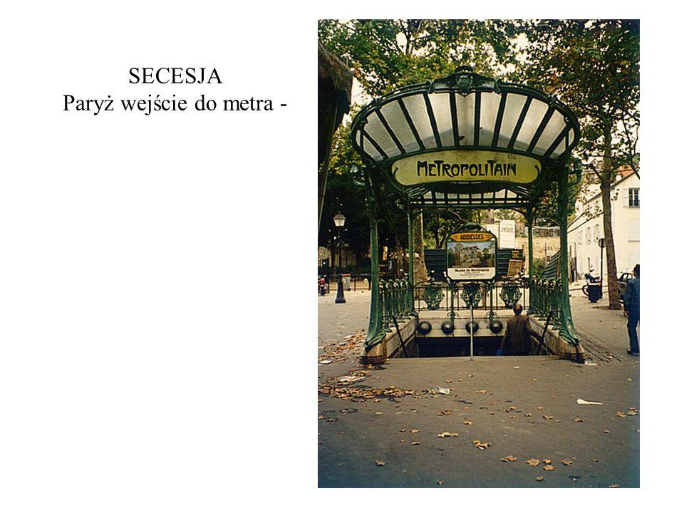 SECESJA Paryż wejście do metra -