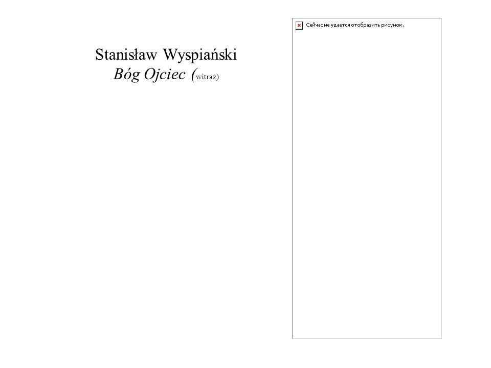 Stanisław Wyspiański Bóg Ojciec (witraż)