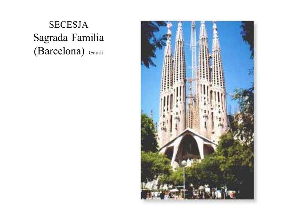 SECESJA Sagrada Familia (Barcelona) Gaudi