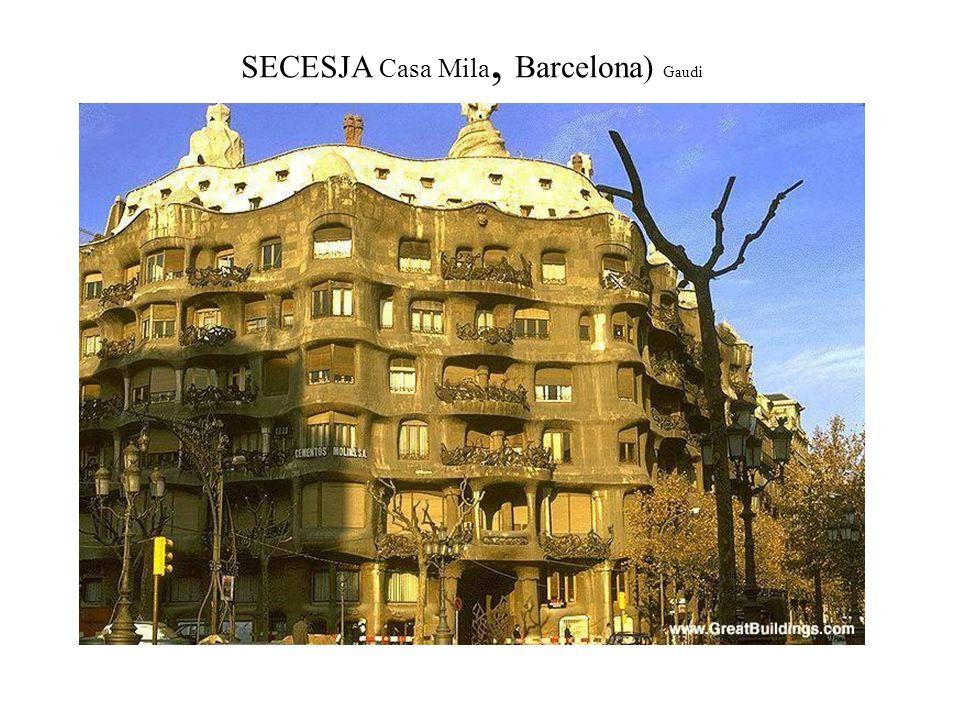 SECESJA Casa Mila, Barcelona) Gaudi