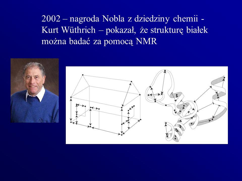 2002 – nagroda Nobla z dziedziny chemii - Kurt Wüthrich – pokazał, że strukturę białek
