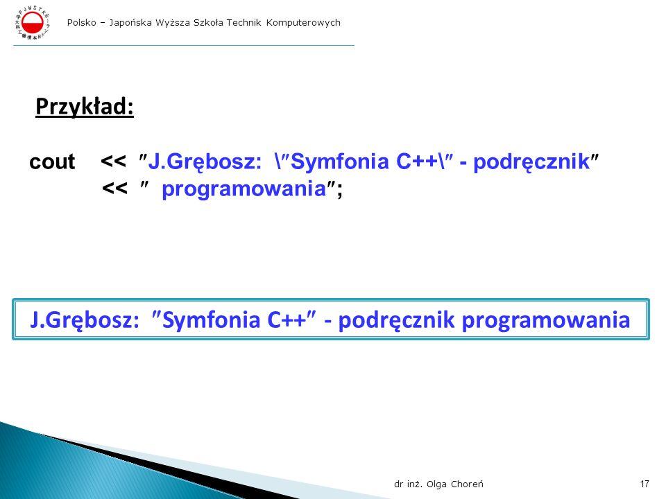 J.Grębosz: Symfonia C++ - podręcznik programowania