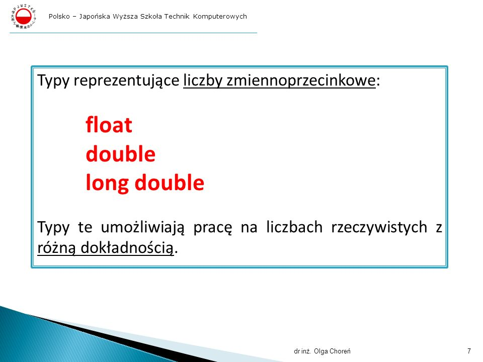 float double long double