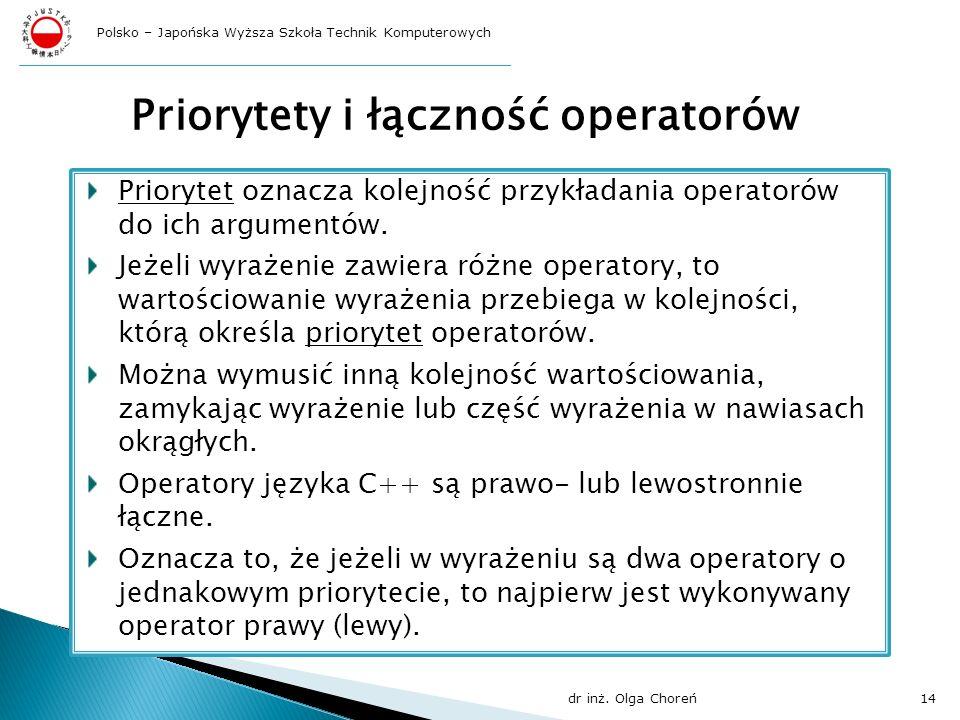 Priorytety i łączność operatorów