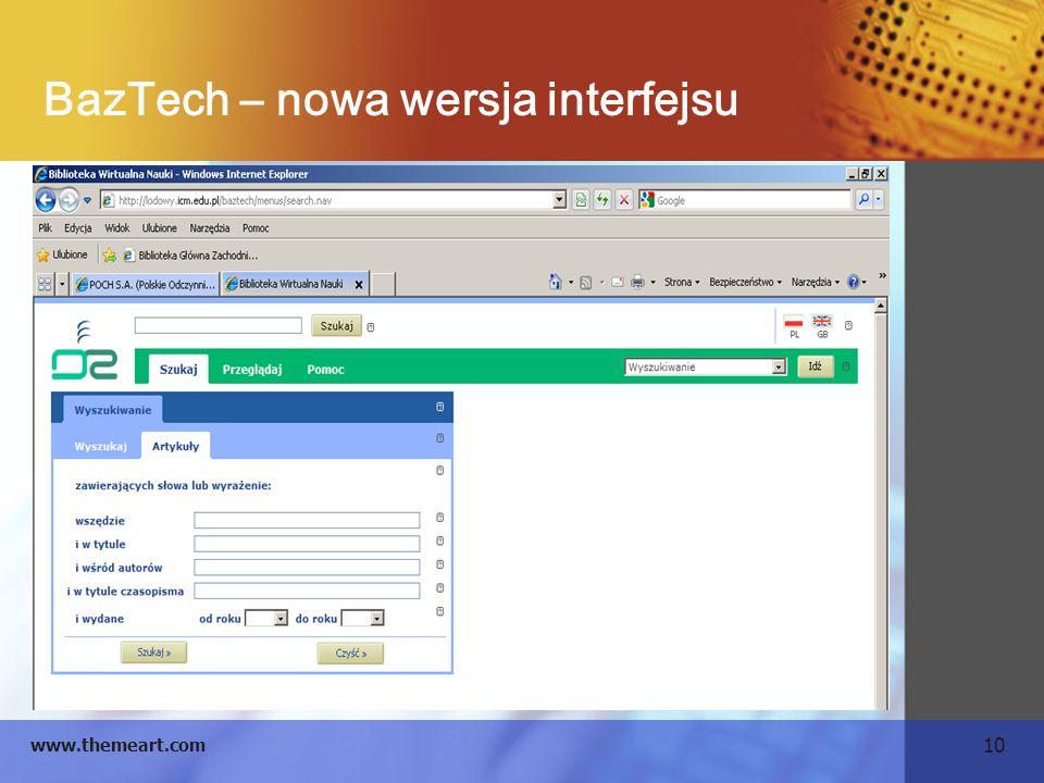 BazTech – nowa wersja interfejsu