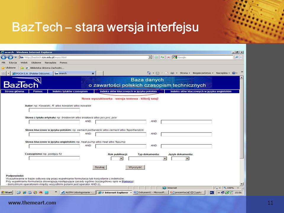 BazTech – stara wersja interfejsu