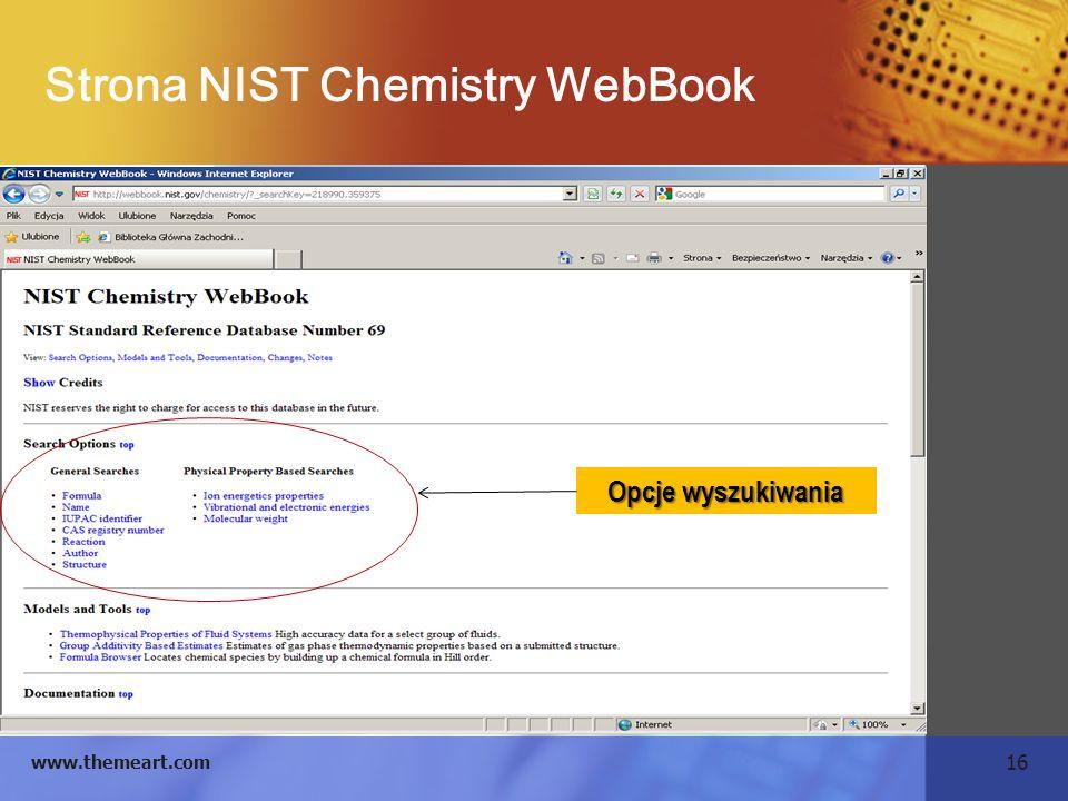 Strona NIST Chemistry WebBook