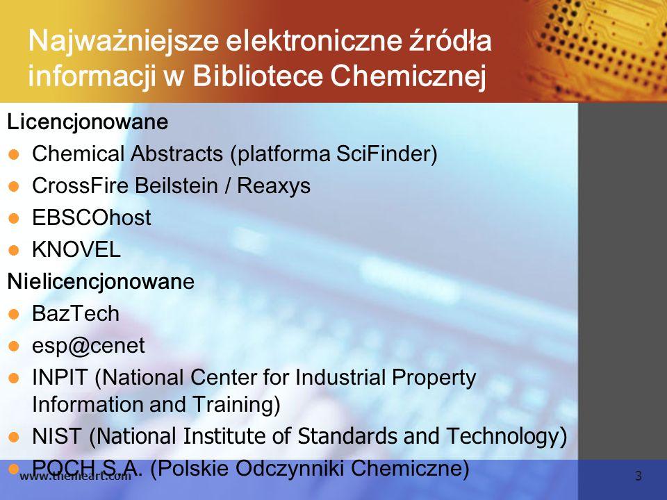 Najważniejsze elektroniczne źródła informacji w Bibliotece Chemicznej