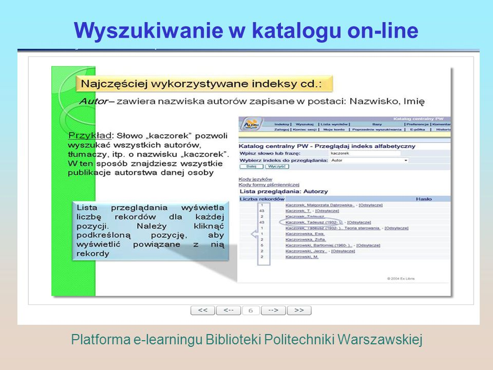 Wyszukiwanie w katalogu on-line