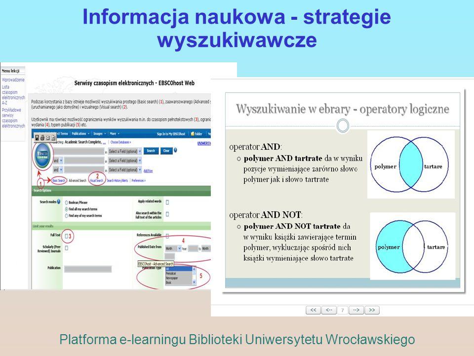 Informacja naukowa - strategie wyszukiwawcze