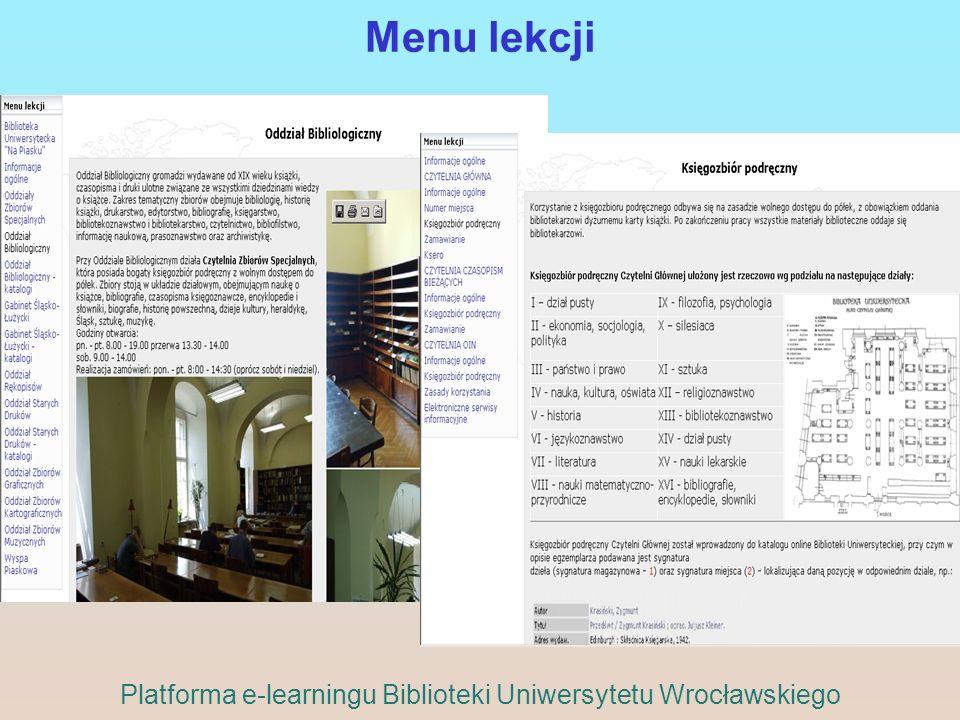 Platforma e-learningu Biblioteki Uniwersytetu Wrocławskiego
