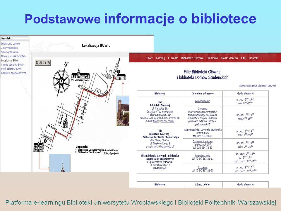 Podstawowe informacje o bibliotece