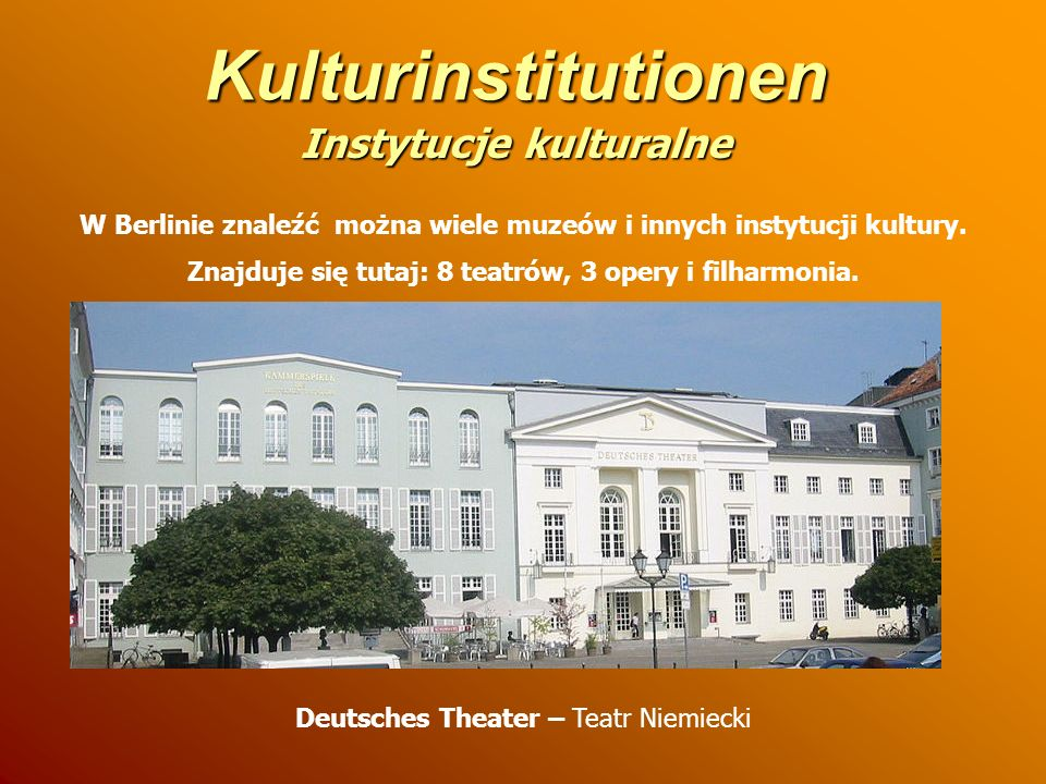 Kulturinstitutionen Instytucje kulturalne