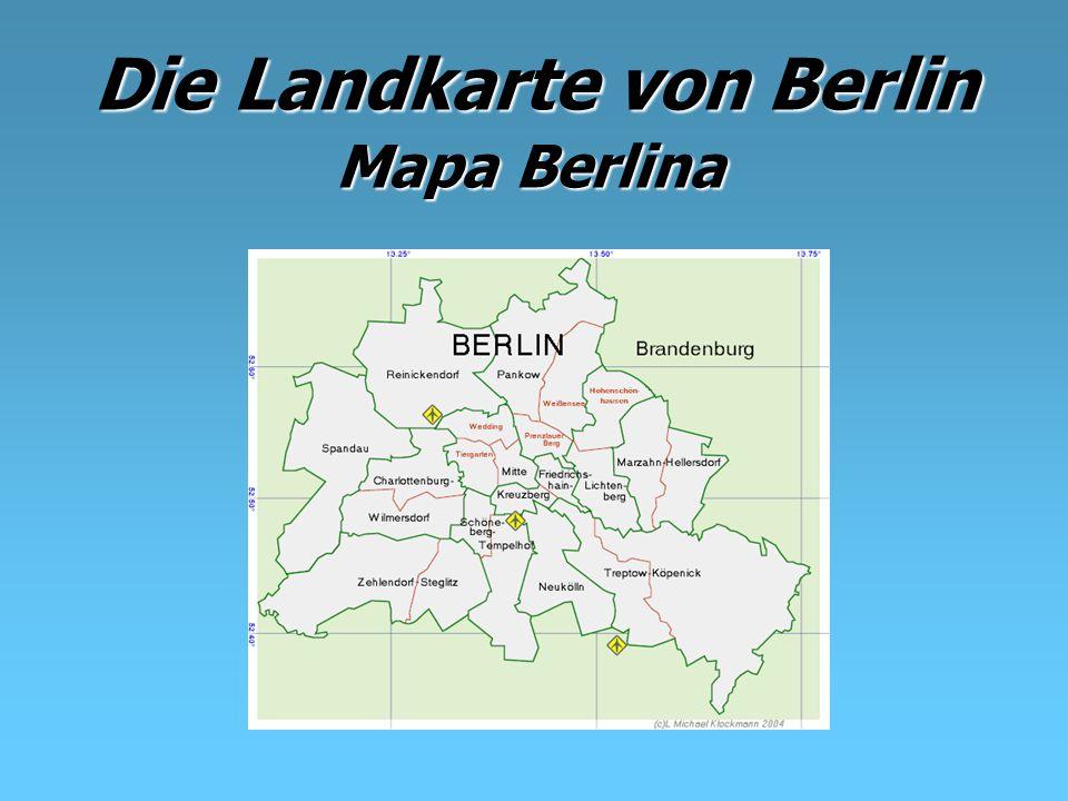 Die Landkarte von Berlin